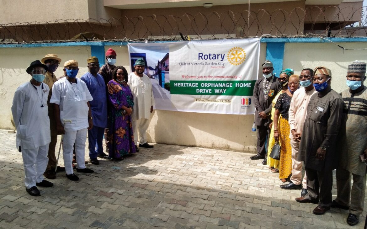 Rotary Club of Victoria Garden City Commissions Drive Way at Heritage Home