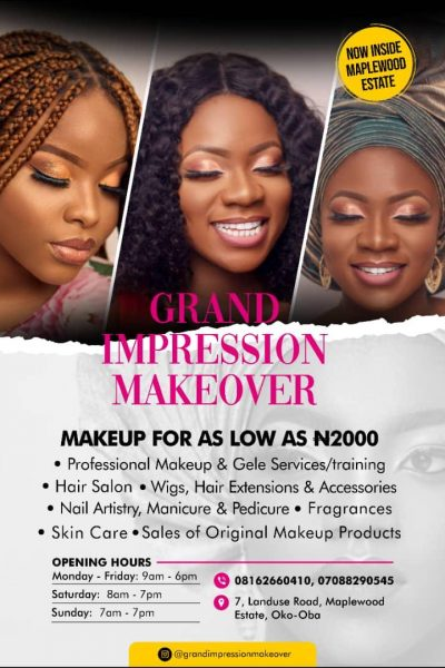 Women Connect Advert - Grand Impression Make-Over